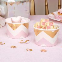 Pattern Works Pink Chevron Treat Tubs (8)